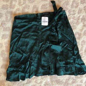 Urban Outfitters tie waist satin skirt
